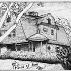 """Snee House"" - Narrgansett, RI - Pen & Ink Portfolio by Jack McCabe"