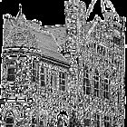 """""""Courthouse Center for the Arts"""" - Pen & Ink Portfolio by Jack McCabe"""