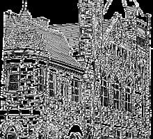 """Courthouse Center for the Arts"" - Pen & Ink Portfolio by Jack McCabe"
