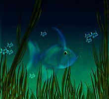 Small blue fish.. by nishagandhi