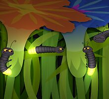 Glowworms at Night by SeaSerpent