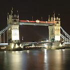 Tower Bridge Panormic at Night by Eyeswide