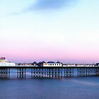 Brighton's Palace Pier Panoramic Twilight by Eyeswide