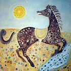The Brown Pony of the Eclipse by Helena Wilsen - Saunders