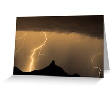 Lightning Strikes - Pinnacle Peak Greeting Card