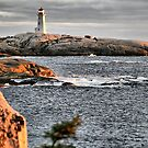 Peggy's Cove Sunset by HighHeadArtwork