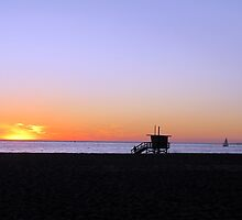 Venice Beach Sunset by David Shaw