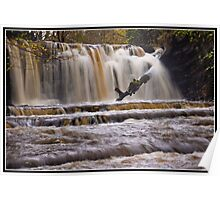Scarloom Waterfall in spate Poster
