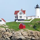 Cape Neddick Light. by William Brennan