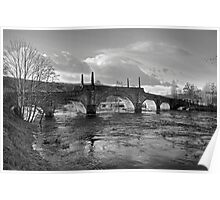 Wade's Bridge at Aberfeldy - B&W Poster