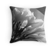 Frangipani Petals-(B&W) Throw Pillow