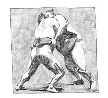 Sumo Wrestlers by Tony Sturtevant