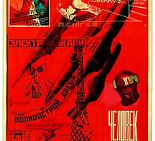 Blake's 7 tribute Liberator Soviet style Poster by MarkYoung