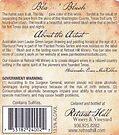 """Blazin' Blush"" wine label (back) by louisegreen"