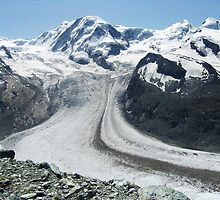 Gornergrat Glacier, Zermatt Switzerland by Monica Engeler