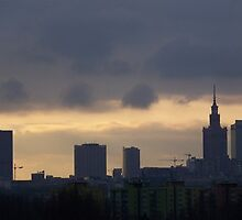 center of Warsaw by Casciolina