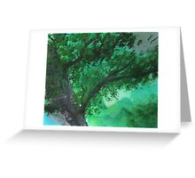 Green Tree Topper Greeting Card