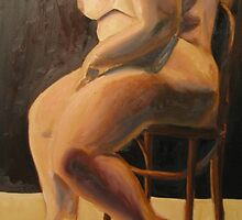 Thick Goddess in Chair (original for sale!!) by Rayven Collins