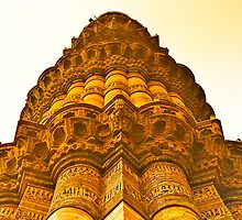 North India - Qutab Minar - New Delhi 4 by Geoffrey Thomas