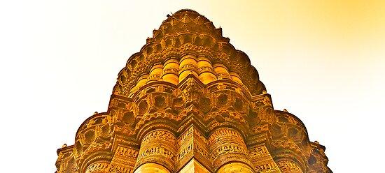North India - Qutab Minar - New Delhi 4 by Geoffrey Thomas