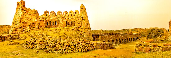 North India - Tughlaqabad Fort  - New Delhi 2 by Geoffrey Thomas