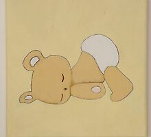 Teddy Bear Sleeping by Nursery Wall Decor
