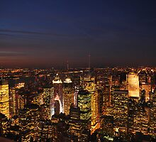 Sunset from the Empire State Building II by Carlo Biondi