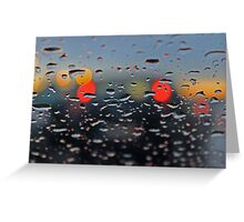 answering your call in the rain... Greeting Card