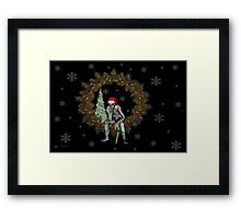 The season of Cheer .. A Zombie christmas  Framed Print