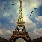 Dooms Day Eiffel Tower by Maria Schlossberg