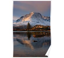 The Applecross Hills reflected in Loch Kishorn, North West Scotland. Poster