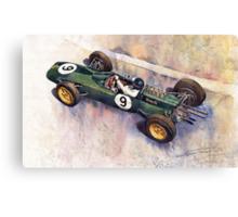 Lotus 25 F1 Jim Clark Monaco GP 1963 Canvas Print