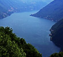 Lake Como from Pigra by Peggy Berger