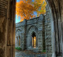 Fall Colors From The Washington Memorial Chapel by Michael Mill