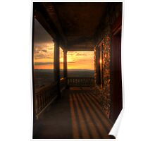 Sunset View From Pagoda Porch Poster