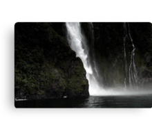 In the Hall of the Mountain King- Cascade. Canvas Print