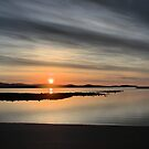low head sunset tasmania tamar river by dmaxwell