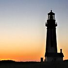 Sunset Beauty At Yaquina Head Lighthouse - Oregon Coast by JaneLoughney