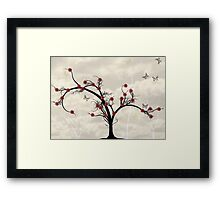 * butterfly tree * Framed Print