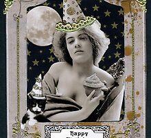 Vintage Birthday Card by WinonaCookie