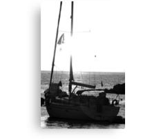 Santorini Mono Canvas Print