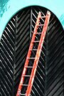 Chevron and Orange Ladder by coffeebean