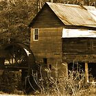 """Tumlin's Mill In Sepia"" by franticflagwave"