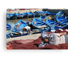 The day's catch (Essaouira, Morocco) Canvas Print