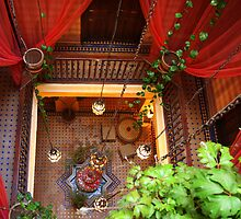 Essaouira (Morocco): Riad looking down by Christine Oakley