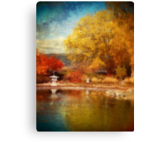 The Colourful Conclusion of Autumn Canvas Print