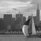 SF Folk Boat / landscape by Jon  Johnson