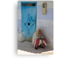 Don't ask me to tell (Chefchaouen, Morocco) Canvas Print
