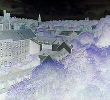 Under a blue moon: Dean Village by Ray Vaughan