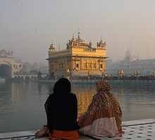 Dusk At The Gurdwara, Amritsar, Punjab, India by RIYAZ POCKETWALA